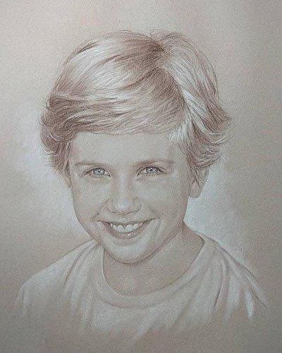 pencil portrait commissioned
