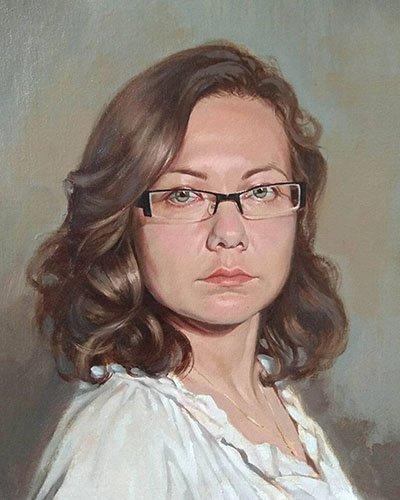 retrato al óleo
