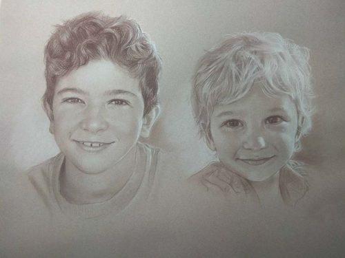 commission portrait pencil